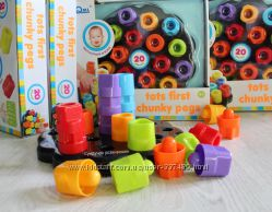 Мозаика-пирамидка Цветные гаечки Qml Мозаика для наименьших, от 1 года