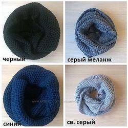 шарфы хомуты снуды в наличии