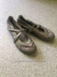 Кожаные балетки Skechers