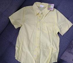 Жёлтая рубашка crazy8. Размер 5-6 лет