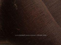 Декоративная мешковина джут, шоколадный цвет