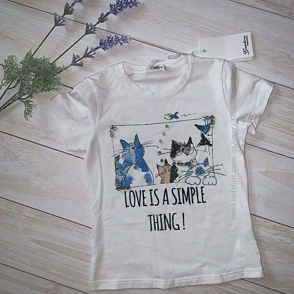 Фирменная футболка 116/122