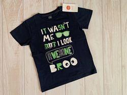 Новая фирменная футболка 122 р.