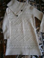 Прикольное вязаное платье-туника GAP на 4-5 лет