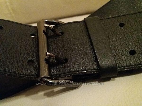 кожаный пояс ремень от Prada   оригинал