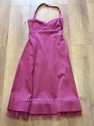 Коктельное очень красивое атласное платье Warehous