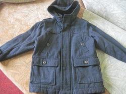 Шерстяное пальто на 6-8л. Authentic