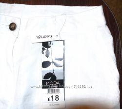 белые брюки лен размер 38 евро новые