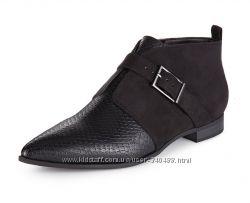 Брендовые остроносые ботиночки туфли M&S Insolia Flex