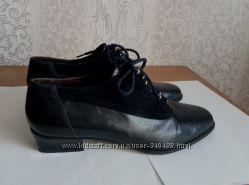 Кожаные ботиночки туфли, полуботинки -- сток, состояние новых