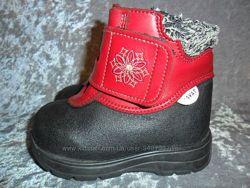 Кожаные зимние ботинки  две пары KAVAT  р. 22 Швеция