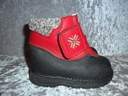 Кожаные зимние термо ботинки  KAVAT р. 23 Швеция
