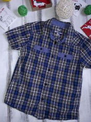 Рубашка F&F 7-8 л 128 см Хлопок