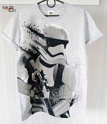 Стильная футболка star wars штурмовик ручная роспись