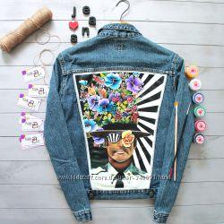 Мегакрутая джинсовка ручная роспись