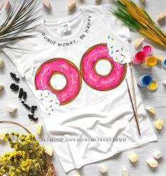 Футболка Donuts ручная роспись