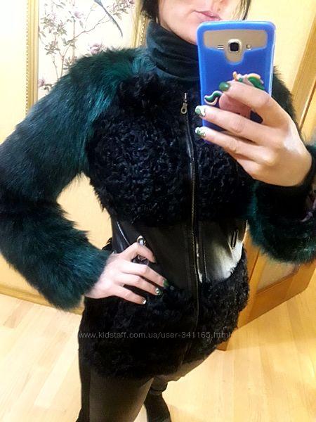 Куртка дубленка дублянка шуба натуральная кожа песец каракуль Турция