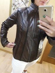 Куртка курточка косуха кожаная натуральная кожа Zara Mango Ares Турция