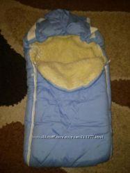 Конверт на овчине одеяло в отличном состоянии.