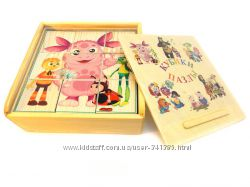 Кубики-пазлы деревянные