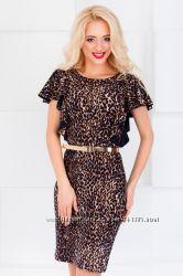 Платье леопардовое нарядное