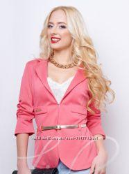 Однотонный женский пиджак с пояском Распродажа
