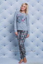 Пижамки с брюками трикотажные Костюмы для дома Разные расцветки и размеры