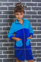 Детские велюровые халатики Разные цвета Турецкий велюр