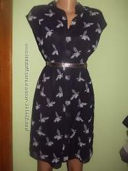 Шифоновая рубашка-платье Zara, размер L, состояние нового
