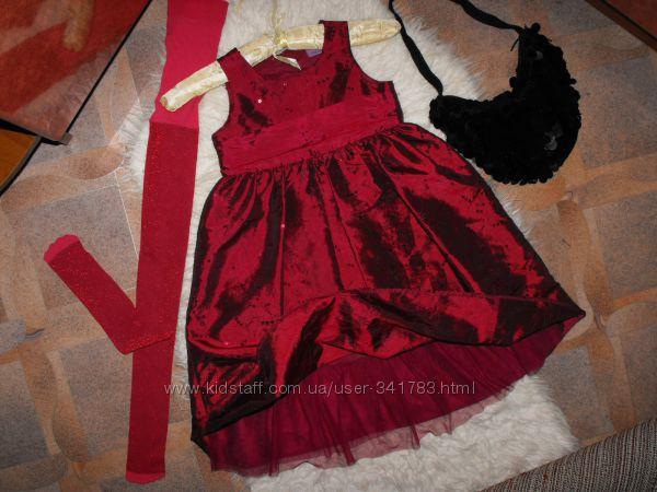 Оригинал CHEROKEE очень нарядное платье в паедках