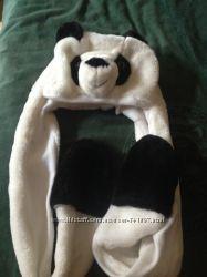 Интересная шапочка-панда