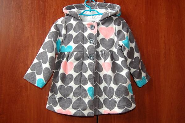 Флисовое пальто Олд неви на 1,5- 2 года, 86-92 см.