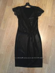 Новое коктейль-вечер платье вискоза трикотаж - мокрая кожа S-M