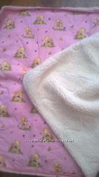 Продам теплое одеяло из овечьей шерсти в детскую кроватку