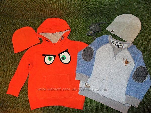 Теплый свитер, джемпер, свитшот Next 3-5г. 104-110см