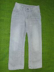 Стильные серые джинсы на подкладке Pepperts. 6-7лет, 122cм