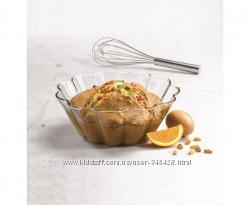 Огнеупорная стеклянная форма для кексов, маффинов, пирогов желе