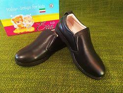 Черные туфли мокасины Erra. Размер 32. Новые. Натуральная кожа
