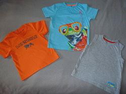 Яркие футболки 2-5лет. Lonsdale, Mothercare, Next 2-5лет, 92-110см