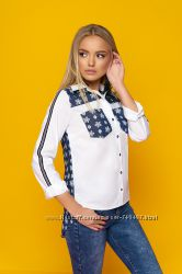 Стильная блуза в 4х расцветках
