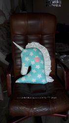 Подушки-игрушки для деток Единорог