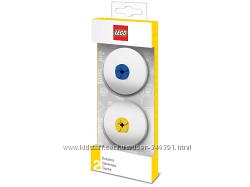 Lego Набор стирательных резинок голубая и желтая 5005108