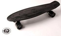 Скейтборд Пенни борд Penny Board Fish ЧЕРНЫЙ матовые колеса