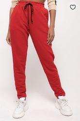 Стильные утеплённые трикотажные брюки зауженные штаны. XSSM.