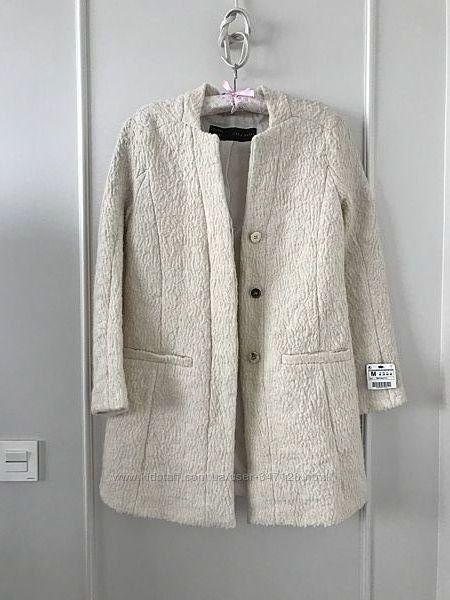 Шикарное стильное пальто Zara. SM. Оригинал. Пиджак кардиган жакет