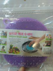 Силиконовая губка для мытья посуды, овощей и фруктов, прихватка, подставка