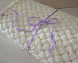Одеяло на выписку из роддома детский плед