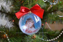 Новогодний шар с любой картинкой или фото