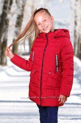 Детское зимнее полупальто для девочки