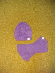 Новый комплект шапка  митенки